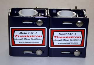 Two Model TAT-1 Trentatron Magnetic Water Conditioners