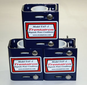 Three Model TAT-1 Trentatron Magnetic Water Conditioners